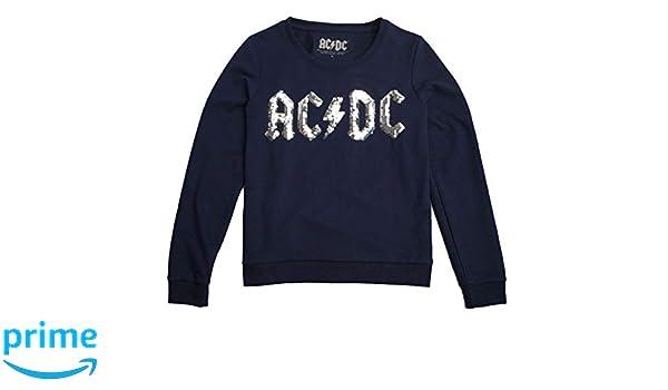 AC/DC Sudadera para Mujer Lentejuelas Reversibles otoño Invierno Casual Sudadera Camisas Blusa Top chándales: Amazon.es: Ropa y accesorios