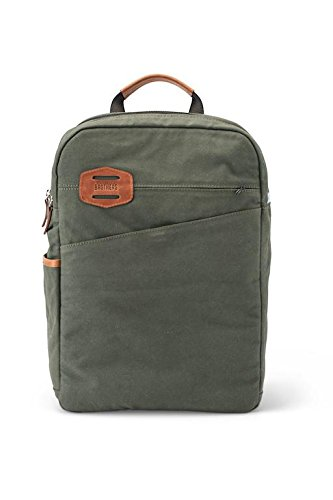 Brothers Leather Supply Co. Canvas Windy City Backpack, Olive Green - Vachetta Green
