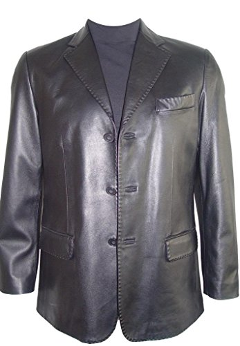 Johnnyblue Men 1021 Big Long Tall All Size Lamb Fine Leather Blazer by Johnnyblue (Image #8)