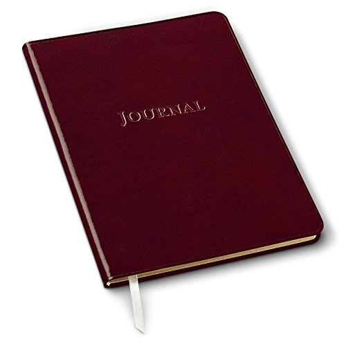 Gallery Leather Large Desk Journal Acadia Burgundy - Gallery Plains White