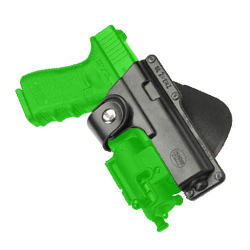 (Fobus Tactical Speed Holster Paddle GLT19 Glock 19,23,32 / S&W 99 Compact/ M&P Compact holds Handgun with Laser or Light)