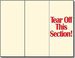 65lb Cream Tri-fold Brochure Paper w/Tear off - 100 Brochures