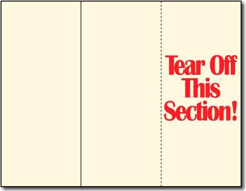 65lb Cream Tri-fold Brochure Paper w/Tear Off - 250 Brochures - Great for Marketing, Coupons, Reciepts