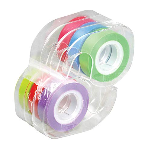 (Lee Removable Highlighter Tape, 1 Roll of Each of 6 Standard Colors, 1/2-Inch Wide x 720-Inch Long, With Dispenser (13888))