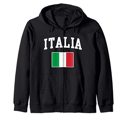 Italia Flag Italian Italy Italiano Gift Men Women  Zip Hoodie