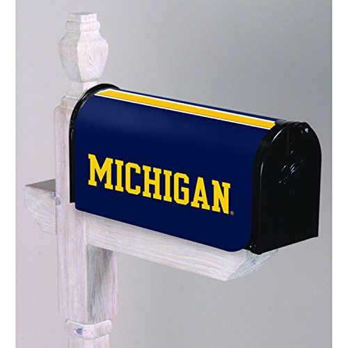 Team Cover Mailbox (Evergreen NCAA Michigan Wolverines Mailbox Cover, Team Colors, One Size)
