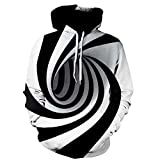 3D Vortex Printed Hoodies Unisex Pullover Sweatshirt Athletic Casual Shirts
