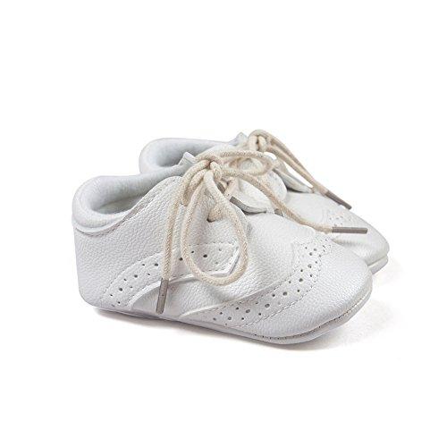 Estamico Baby Boys Shoes Prewalker PU Sneakers White US 4 - Image 4