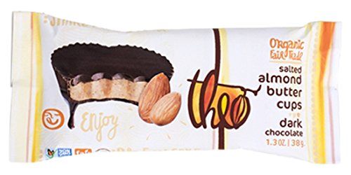 Theo Salted Almond Butter Cups Dark Chocolate, 1.3 oz