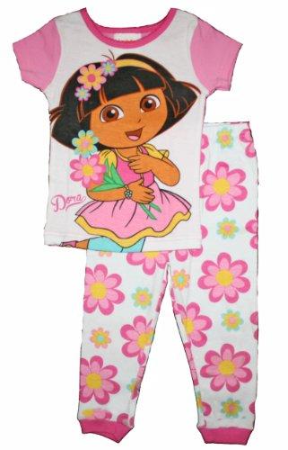 Dora the Explorer Toddler Girls Cotton Pajama Set (4T)