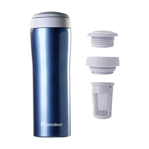 Timolino Tea2Go Vacuum Mug Grande 17 fl.oz. (Aqua ()