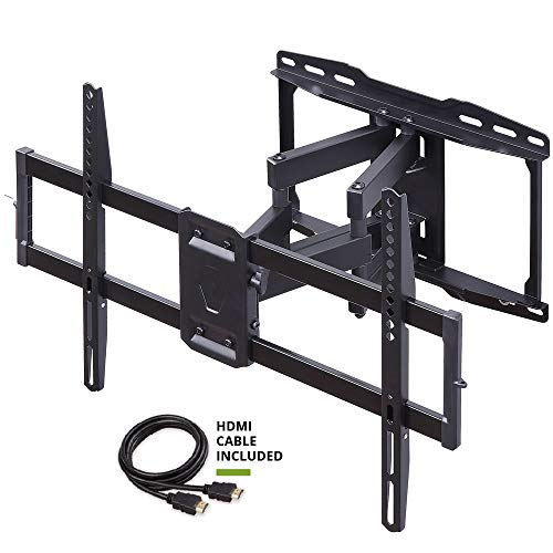 Full Motion TV Wall Mount TV Bracket with Swivel Tilt Articulating Arms for Most 42-70 Inch Flat Screen, LED, 4K TVs-with Max VESA 600x400mm-Weight Capacity Up to 99lbs, Fits 16 Stud by USX Mount