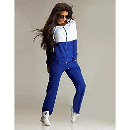 Amazon.com: YULong Woman 2pcs Hoodies Sweatshirt Sport Tracksuit Jogging Suits Femme Sudaderas Winter (Black,S): Home & Kitchen