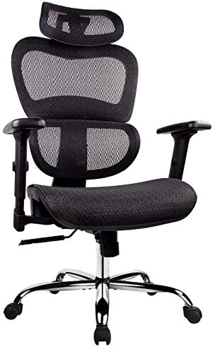 Office Chair Ergonomics Mesh Chair Computer Chair Desk Chair High Back Chair W Adjustable Headrest And Armrests Black Furniture Decor
