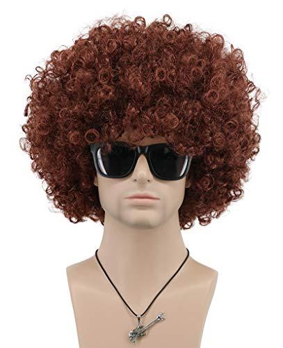 VGbeaty Mens Women Short Wave Colorful Rocker Afro