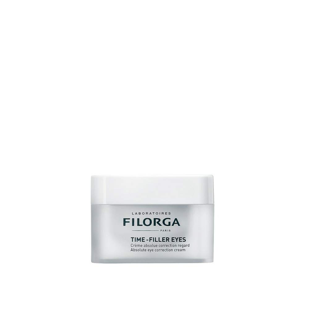Filorga Time-Filler Eyes Absolute Eye Correction Cream for Wrinkles with Hyaluronic Acid, Great for Sagging Eyelids and Lash Volume, 15 ml