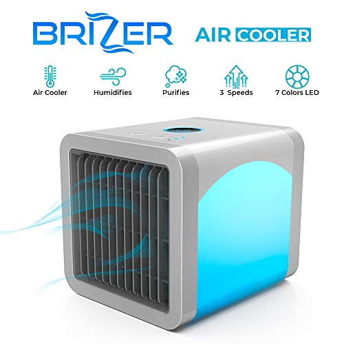 Personal Air Cooler | Personal Air Conditioner for Office Desk | Small Portable AC Air Conditioner | Mini Air Conditioner Room Cooler with Built-In LED Night Light | User Friendly Humidifier Cooler