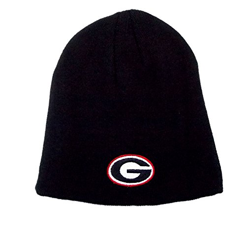 Ncaa Georgia Bulldogs Embroidered Logo One Size Fits Most Cuff-less Beanie Hat