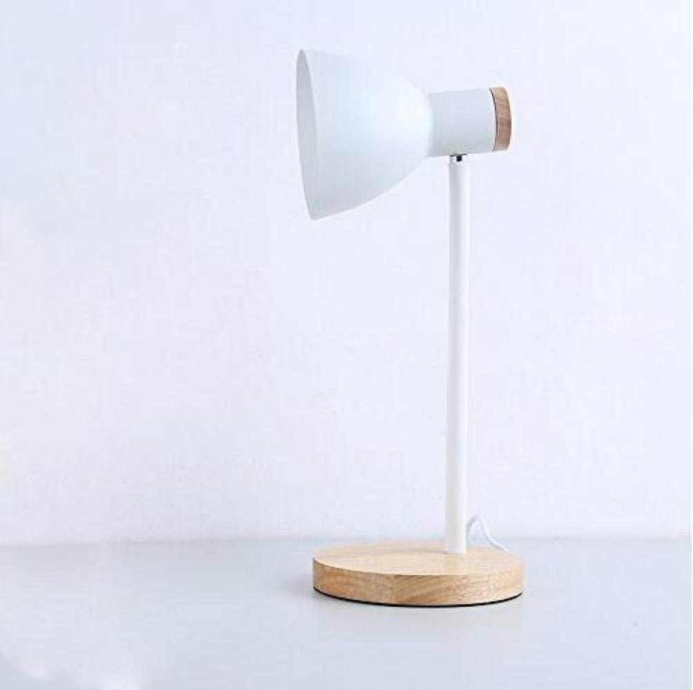 Weiß A QHY Tischlampe, Bett Nordic Creative Tischlampe, Schlafzimmerstudie, Studie Tischlampe