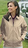 Women's Soft Twill Polyester Jacket with Nylon Lining (up to size 4X)