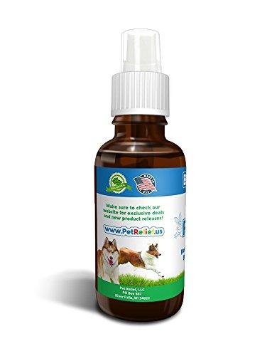 Flea Control Pet Relief, Flea Tick Spray For Dogs, 100% Natural, Lifetime Warranty! 30ml Safe Medicine For Fleas