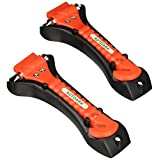 Autoark Car Safety Antiskid Hammer Seatbelt Cutter Emergency Class - Window Punch Breaker Auto Rescue Disaster Escape Life-Saving Hammer Tool,2 Pack,AZ-012