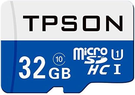TPSON Tarjeta de Memoria microSDHC de 32 GB UHS-1 Clase 10 ...