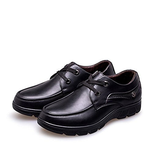 Minishion Mens Sprint Fall Lace-up Casual Business Work Oxford Shoes Black XTecqN06Lw