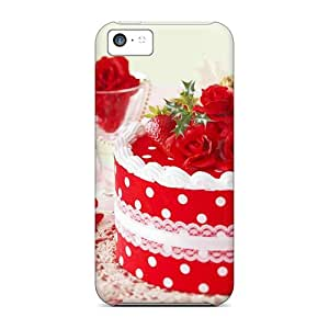 Top Quality Protection Holidays Christmas Wallpapers Celebratory Cake Cases Covers For Iphone 5c