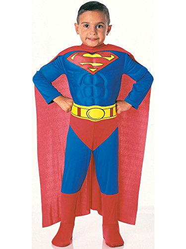 Super DC Heroes Deluxe Muscle Chest Superman Costume, Child's Medium -