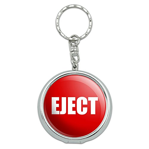 GRAPHICS & MORE Red Eject Button Design Funny Portable Travel Size Pocket Purse Ashtray Keychain with Cigarette Holder