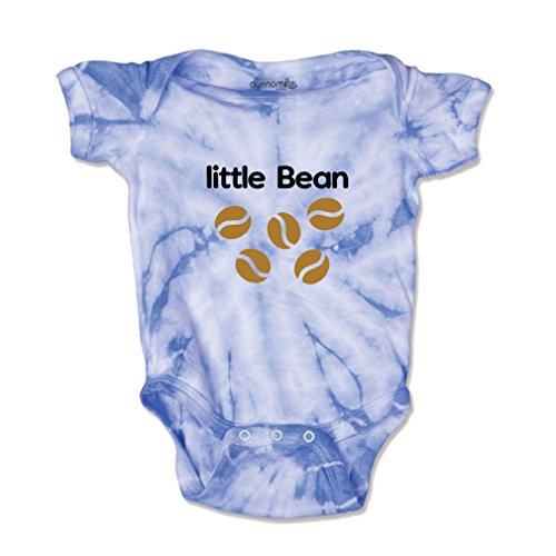 Little Bean Style 1 Baby Kid Tie Die Fine Jersey Bodysuit Carolina Blue (Little Bean)
