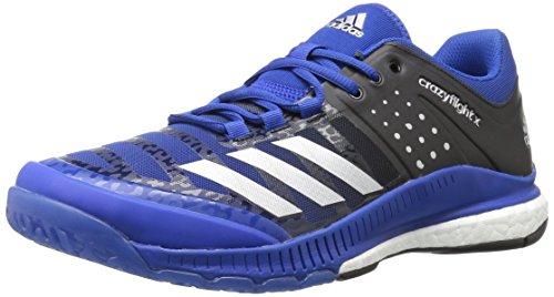 adidas Women's Crazyflight X Cross-Trainer-Shoes,Collegiate Royal/Metallic Silver/Black,9.5