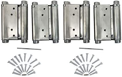 A Pair 5 Adjustable Double Action Spring Hinge Saloon Cafe Swing Door with Screws