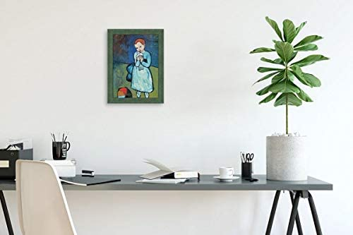 Amazon Com Alonline Art Child With Dove By Pablo Picasso Green Framed Picture Printed On 100 Cotton Canvas Attached To The Foam Board Ready To Hang Frame 15 X20