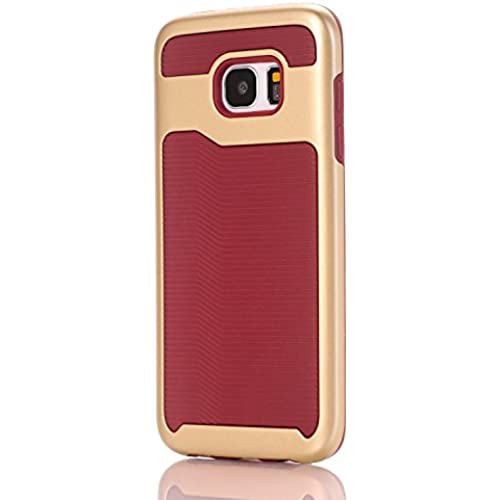 Galaxy S7 Edge Case, Speedup 2 in 1 Wave Texture Bumper Frame Corner Guard ShockProof Strong Grip Ultra Slim Hybrid Cover for Samsung Galaxy S7 Edge (Gold Sales