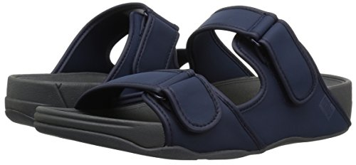 Navy 46 Midnight Fitflop Slide Gogh Uk Moc Sandals Adjustable Neoprene 11½ x7w7q1fUBn