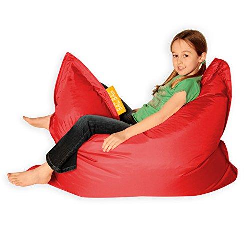 Bean Bag Bazaar® Kids BAZ Bag Rouge Pouf–intérieure et extérieure Enfants Sacs de Haricots par 000KBZOD008