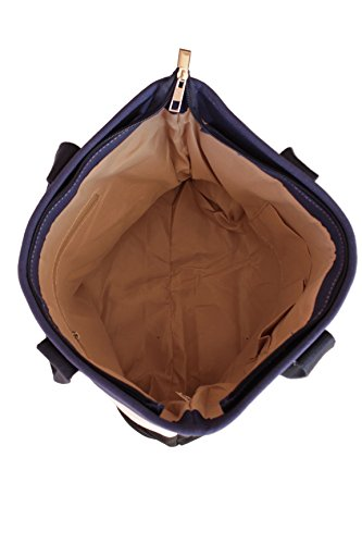Bolsos bandolera de Lona para Mujer Bolso de Hombro bolsa de mano Shopper Bolsos totes multicolor 42*30*15cm Azul Blanco Negro