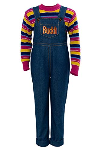 Adult Kids Chucky Glen Cosplay Costume Halloween Dress Up Party Outfit Pants Full Set ()