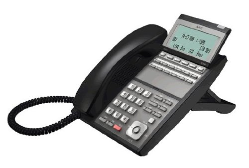 NEC UX5000 DG-12e 12 BUTTON DISPLAY PHONE BLACK Part# 0910044 ~ IP3NA-12TXH