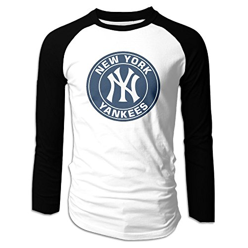 Mens New York Yankees Costumes (PHOEB US Baseball Team Men's Long Sleeve Shirts L)