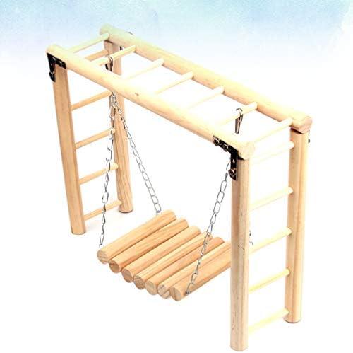 Balacoo Juguete de Columpio de Pájaros Escalera de Puente de Loro de Madera Perca Jaula de Pájaros Hamaca Columpio Colgante Juguete de Escalada: Amazon.es: Productos para mascotas