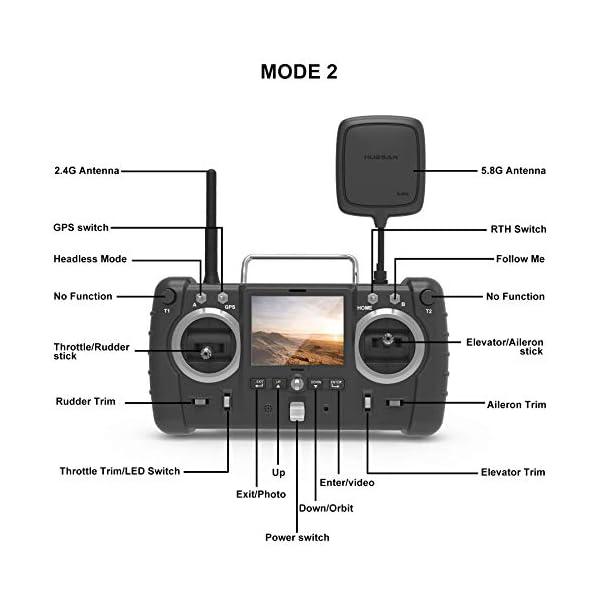 Hubsan H501S X4 Brushless Droni GPS 1080P HD Fotocamera FPV con H906A Trasmettitore Nero PRO Versione(2 batterie di Droni) 6 spesavip