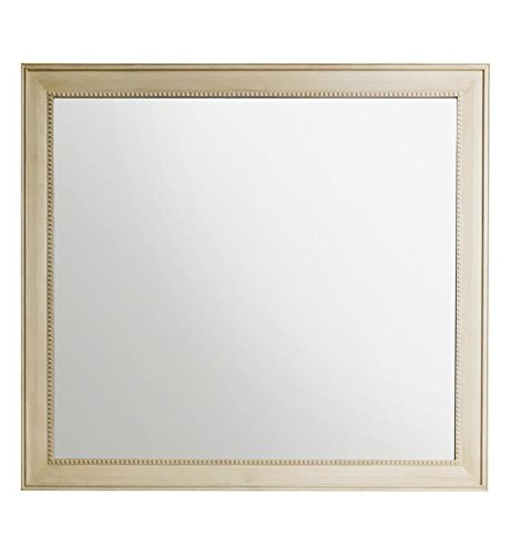James Martin Vanities 44 in. Rectangular Mirror in White Washed Walnut Finish