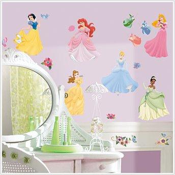 Amazon.com: DISNEY PRINCESS 37 Wall Stickers Room Decor Decals ...