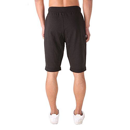 FORBIDEFENSE Casual Men's Bermuda Classic Fit Cotton Gym Shorts With Pockets,Bodybuilding Short Pants With Drawstring