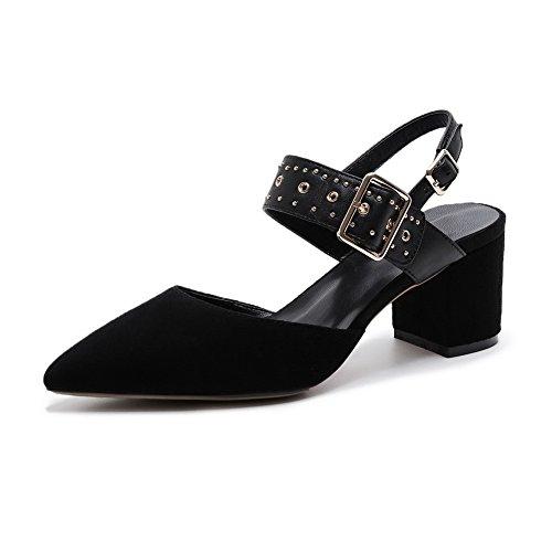 Compensées 36 Noir Femme Noir AdeeSu 5 EU Sandales HqpwXX