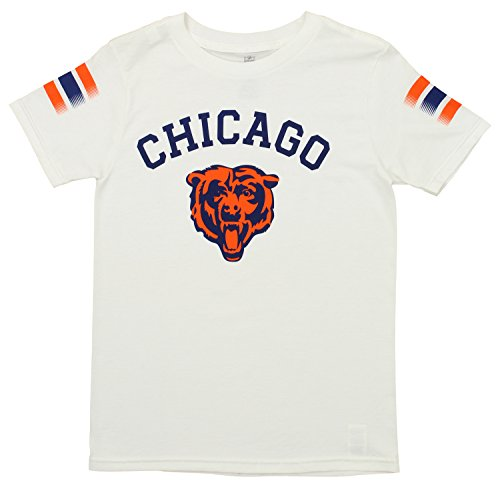 Outerstuff NFL Youth's Short Sleeve First Line Tee, Chicago Bears Medium (10-12) Chicago Bears Crew Shirt