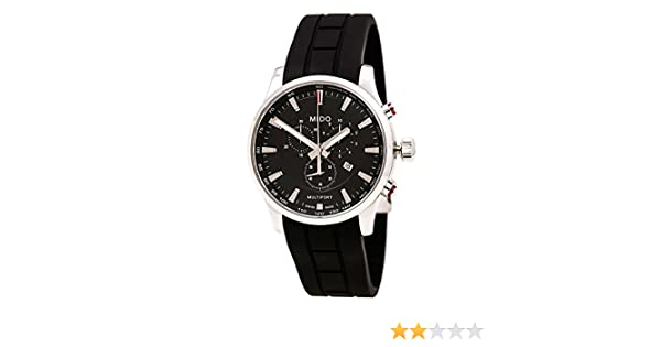 Amazon.com: Mido M0054171705120 Watch Multifort Mens - Black Dial Stainless Steel Case Quartz Movement: Watches